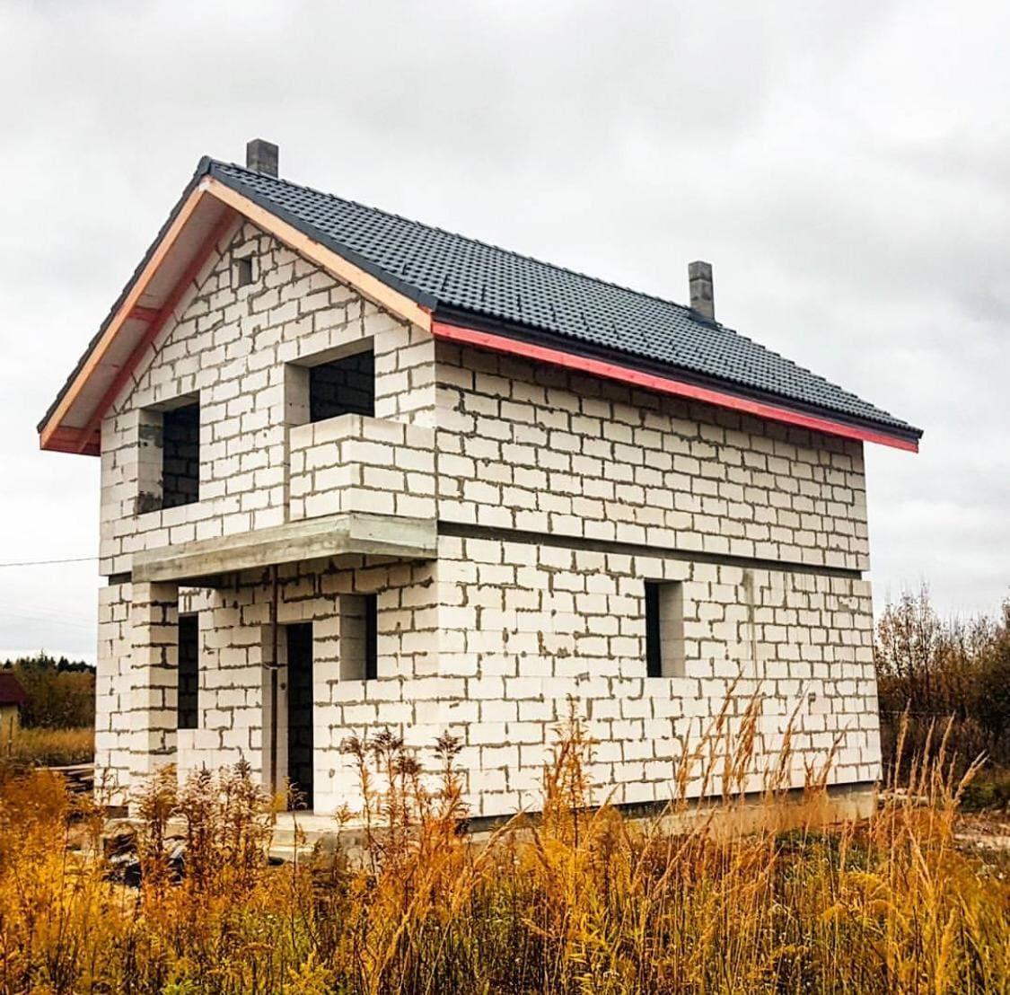 Небольшие дома из пенобетона фото